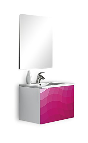 lebana GEOM Wave Mobile da bagno 60x45x45 cm viola