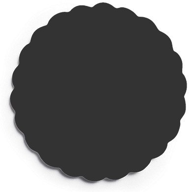 Wedding-Star-41088-10-Personalized-Paper-Coasters-Scalloped-Black