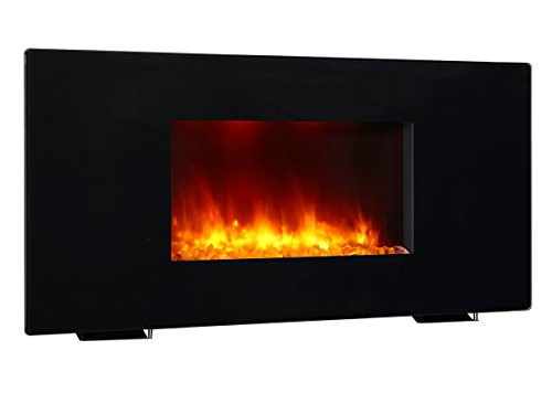 Buy Cheap PuraFlame Galena Black 36 inch remote control portable & wall mounted flat panel fireplace...