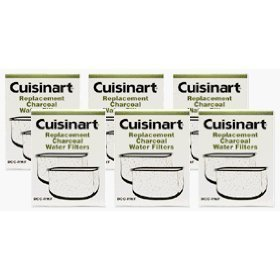 Cuisinart DCC-RWF-6PK Charcoal Water Filters, 2 Year Supply, 12 Filters