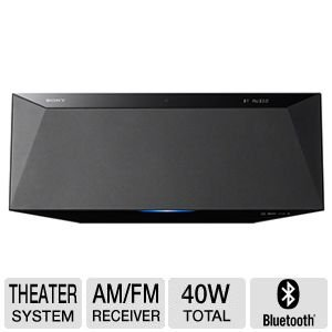 Sony All-In-One Micro Hifi Music Bluetooth Audio System With 40 Watts Rms Total Power With Magnetic Fluid Speakers, Bluetooth Audio Streaming With One-Touch Listening With Nfc, Single Disc Cd Player, Rear Usb Input, Built-In Am/Fm Tuner, Lcd Display With