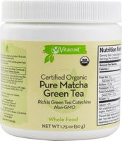 Vitacost Whole Food Certified Organic Pure Matcha Green Tea - Non-GMO -- 1.75 oz (50 g) from Vitacost Brand