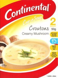 Continental Cup-A-Soup Crtn Creamy Mushroom, 50g