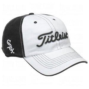 NEW Titleist MLB Chicago White Sox White Black Adjustable Golf Hat Cap by Titleist