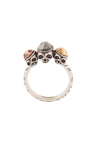 House of Harlow - Triple Skull Ring (Gold/Gunmetal/Rose Gold)