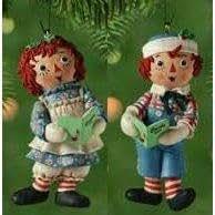 Hallmark 2002 Ornament RAGGEDY ANN and RAGGEDY ANDY