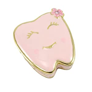 Welforth Girl's Handpainted Pewter Tooth Fairy Box, Pink at Sears.com