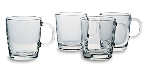 'Bohemia Cristal 093 006 138 cappuccino Bicchieri ca. 290 ml in vetro di calcare natron Set di 4 for you and me ""