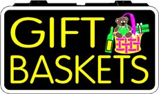 Gift Baskets Backlit Sign 13 x 24
