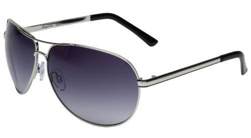 Burgmeister Herren SBM101-111 Chicago Aviator Sonnenbrille, Silver - Silber (Chicago)