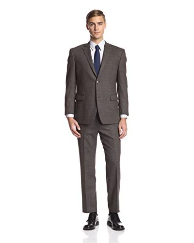 Andrew Marc Men's 2 Button Plain Weave Suit