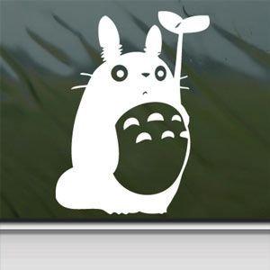 Amazon Com 1 X Totoro White Sticker Decal Studio Ghibli
