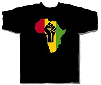 Price Busters - Africa Fist Adult T-Shirt, X-Large, Black