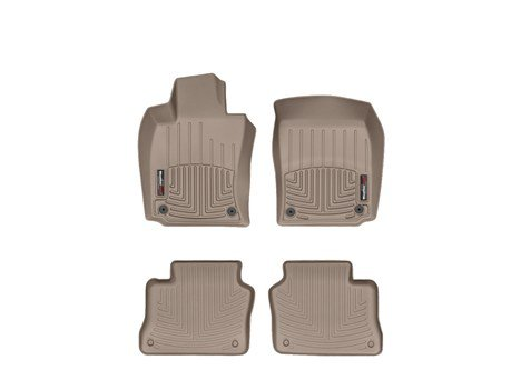 WeatherTech Custom Fit FloorLiner-Porsche Panamera-2011-2013-1st & 2nd Row Tan (Weathertech Panamera compare prices)