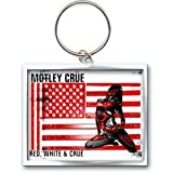 Motley Crue Red, White & Crue Logo Keychain 100% Original Official Licensed Products