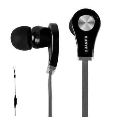 Sunyee (Tm) New Earphones Headsets Headphones With Remote, Mic-Phone Fit For Iphone 5S 5C 5 4S 4 Ipod Ipad4 Ipad Air Ipad Mini; Ipod Touch----Best Audio Performance--30 Day Warranty! (Black)