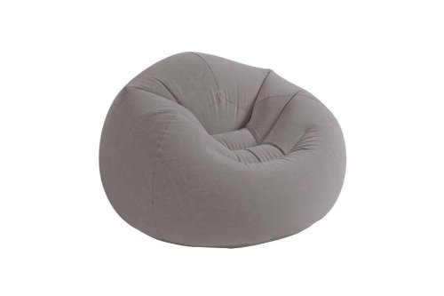 Intex Inflatable Beanless Bag Chair *Stylish & Warm* Bedroom Spare Room Grey