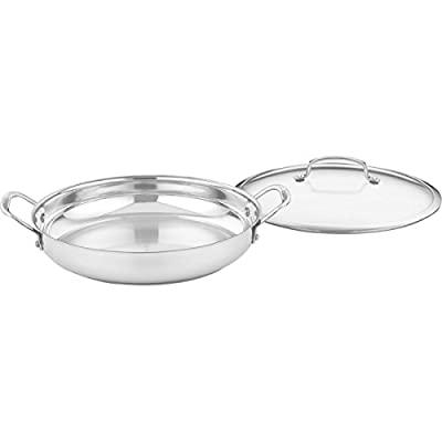 Cuisinart 425-30D Contour Stainless 12-Inch Everyday Pan with Glass Cover