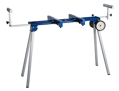 HICO UWC1203 Folding Miter Saw Stand with Wheels, Machine Mounts and Material Roller Supports