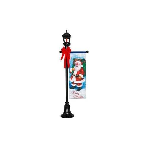 Home Accents Holiday 6 ft. Holiday Santa Lamp Post Christmas Lawn