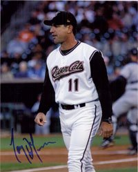 Signed DeFrancesco, Tony (Sacramento River Cats) 8x10 autographed by Powers Collectibles