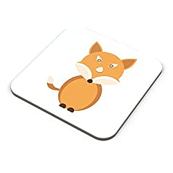 PosterGuy Cute Fox Animal Character cute, fox, animal, character, fox art , watercolor fox painting, fox, fox illustration, watercolor animals, Coaster