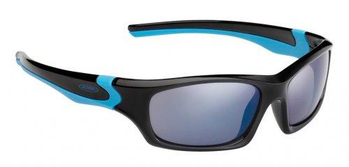 Sonnenbrille Alpina Flexxy Teen Rahmen schwarz/cyan Glas blau versp.S3 2016285100