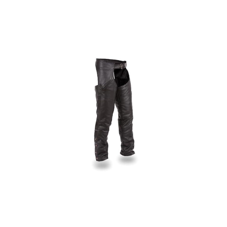 First MFG Xpert Performance Mens or Womens Unisex Premium Renegade Chaps. Ultra Deep Self Locking Pockets. XPM830NKD