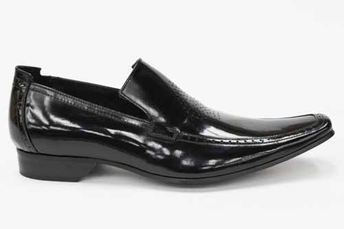 G0147A Cheap Mens Jeffery West Designer Black Line Office Loafers Shoes Size Uk 9