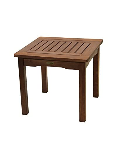 Outdoor Interiors Eucalyptus Accent Table, Brown