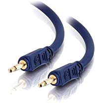 C2G / Cables to Go 40620 Velocity M/M Mono Audio Cable (6 Feet, Blue)