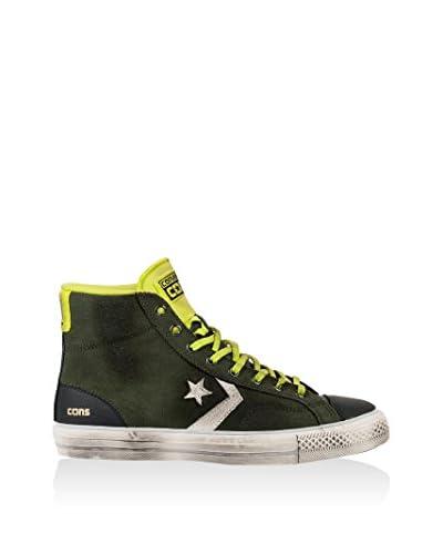 Converse Sneaker Alta Star Player Hi [Verde/Lime/Blu]