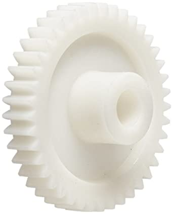 Smallparts Spur Gear, 20 Degree Pressure Angle, Polyoxymethylene, Inch, 20 Pitch