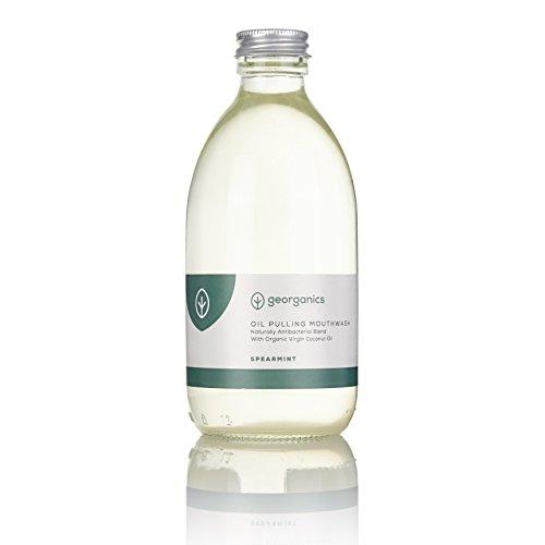 georganics-organic-coconut-oil-pulling-natural-whitening-mouthwash-spearmint-300ml-30-days-supply