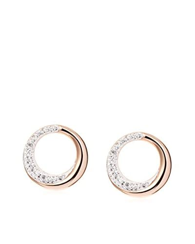 Chloe by Liv Oliver 18K Rose Gold Round Crystal Post Earrings