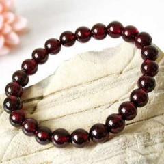 Natural Garnet Beaded Natural Crystal Bracelet