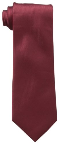 Kenneth Cole REACTION Men's Darien Solid Tie, Burgundy, One Size (Solid Silk Ties For Men compare prices)