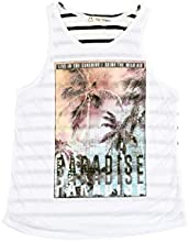 The Classic Brand White Girls 7-16 Heavens N Paradise Graphic Tank