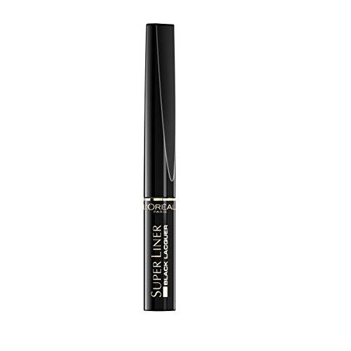 """L'Oréal Paris, Eyeliner Waterproof """"Super Liner Black Lacquer"""", Nero"""