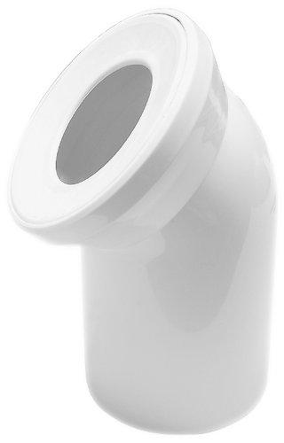 Anschlussbogen für Stand WC | Weiß | 45 Grad | WC, Toilette