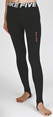 New 105 Skin Tights Compression Leggings Base Layer Black Running Pants Womens