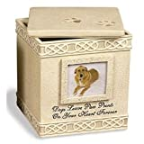 Dog Paw Prints Box Urn