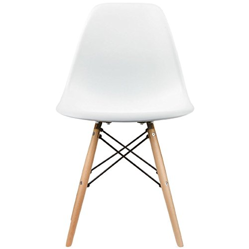 eames style side chair natural wood legs eiffel dining room chair