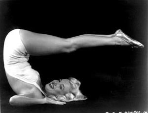 Marilyn Monroe Yoga Pose