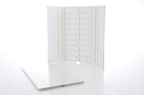 Premiere Brand 20 Capacity Slide Folder, White (Pack Of 2)