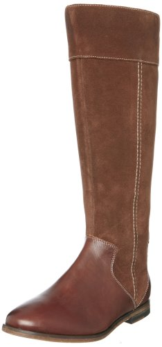 Hush Puppies Women's Alcott Brown Multi Leather Knee High Boots H2619002M 4 UK
