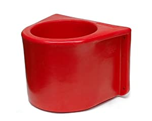 Brower MBH5RLB Insulated Red Horse Bucket Holder with Cover, without a Bucket