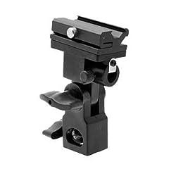 ePhoto bracketB Off Camera Flash Bracket and Umbrella Holder Adapter