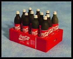 Miniature Coca Cola (Coke) Bottle Crate With 12 Bottles To Place Outside Your Fairy Door