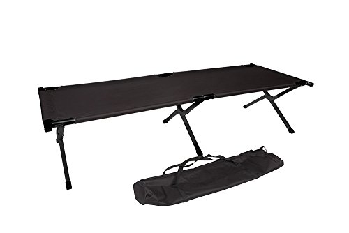 Trademark Innovations Aluminum Portable Folding Camping Bed and Cot Set, 260-Pound Capacity